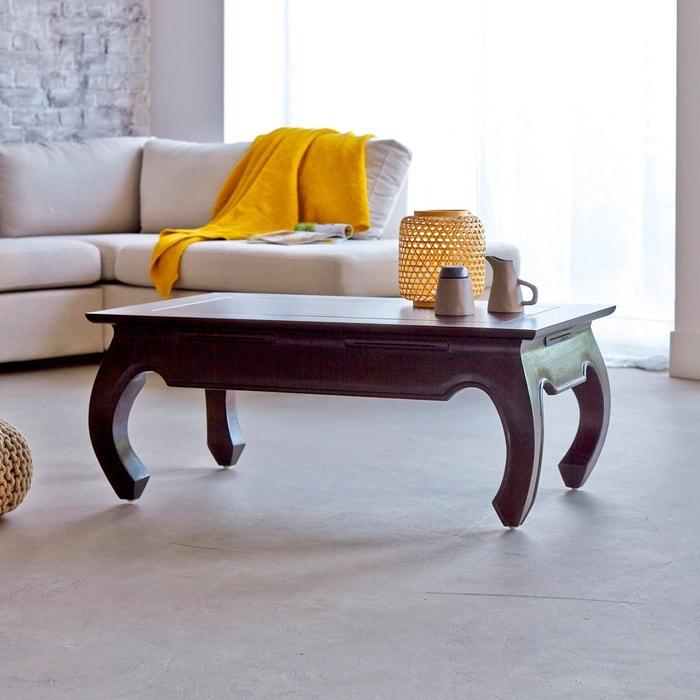 table basse en bois d 39 acajou 100x60 opium aka couleur unique tikamoon la redoute. Black Bedroom Furniture Sets. Home Design Ideas