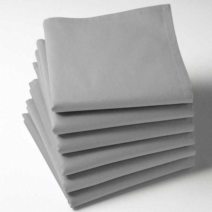 Pack of 6 100% Cotton Twill Plain Napkins  SCENARIO image 0