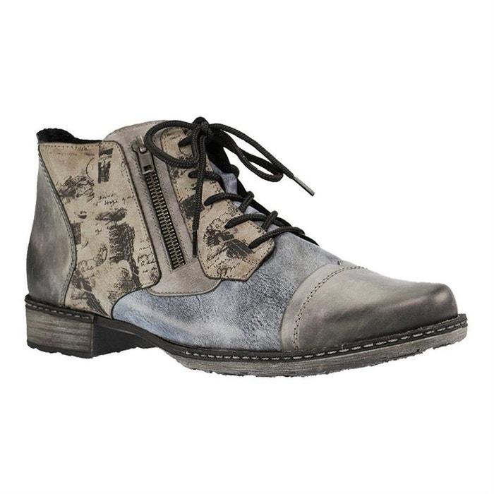 Bottines cuir gris Remonte Le Moins Cher À Vendre De Nouveaux Styles HNuci