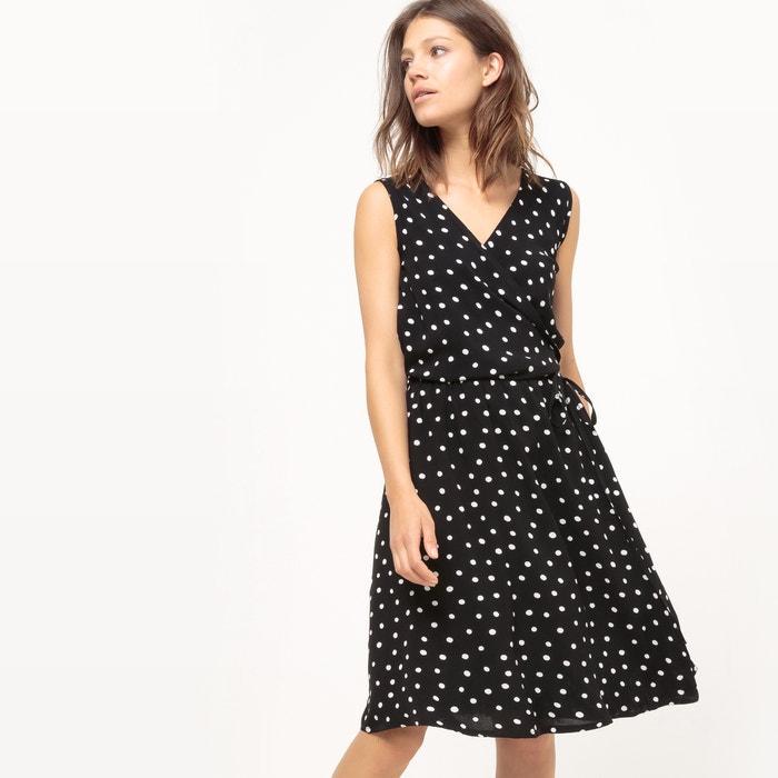 Sleeveless Polka Dot Wrapover Dress  La Redoute Collections image 0