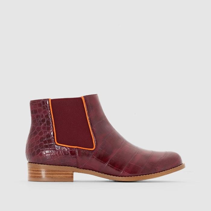 Image Boots en cuir façon croco Alexia MELLOW YELLOW
