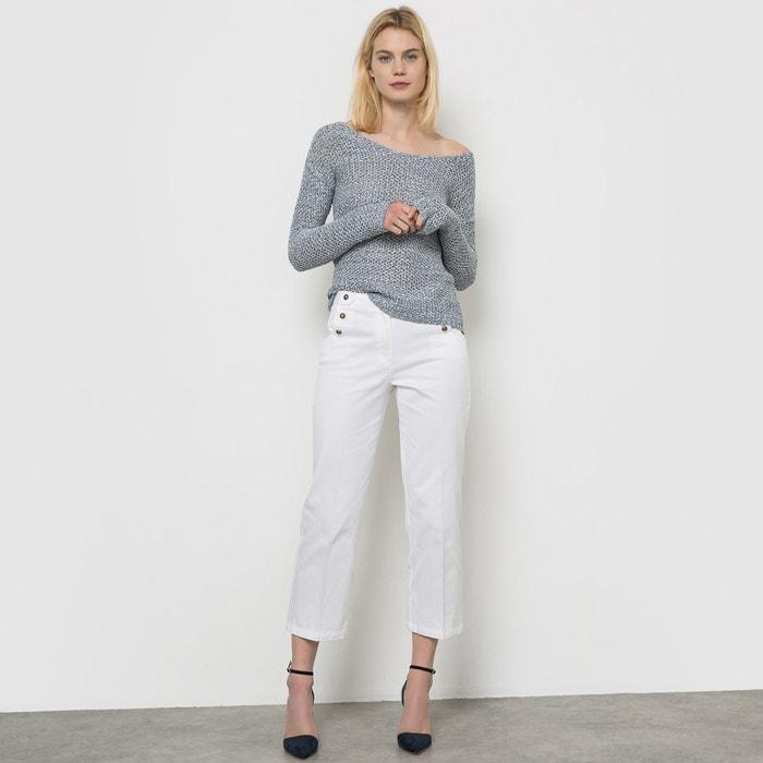 pantalon pont la redoute collections blanc la redoute. Black Bedroom Furniture Sets. Home Design Ideas