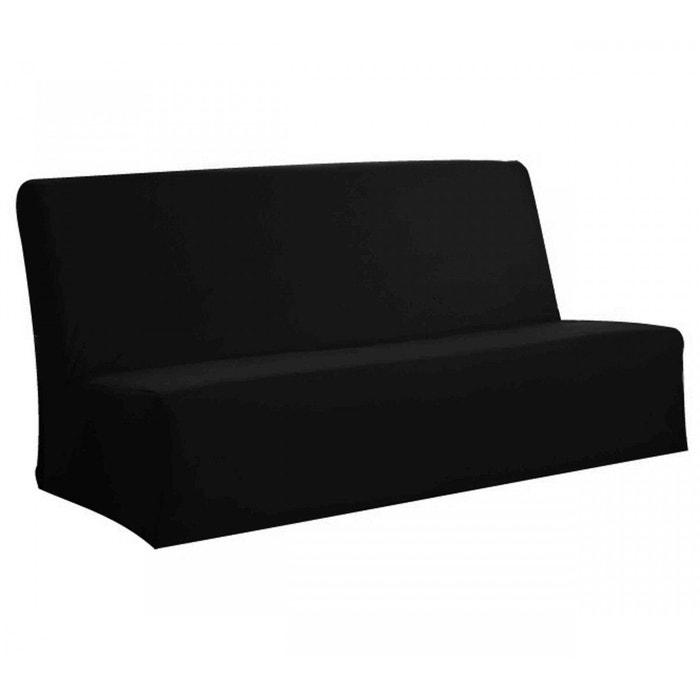 housse clic clac noire 140x190 terre de nuit noir terre. Black Bedroom Furniture Sets. Home Design Ideas