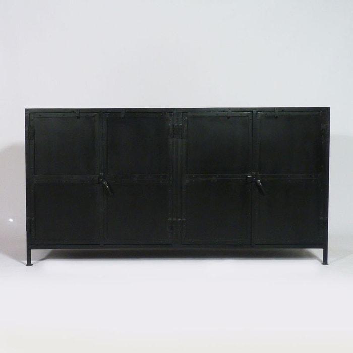 enfilade industrielle 4 portes plateau bois rai4pf made. Black Bedroom Furniture Sets. Home Design Ideas