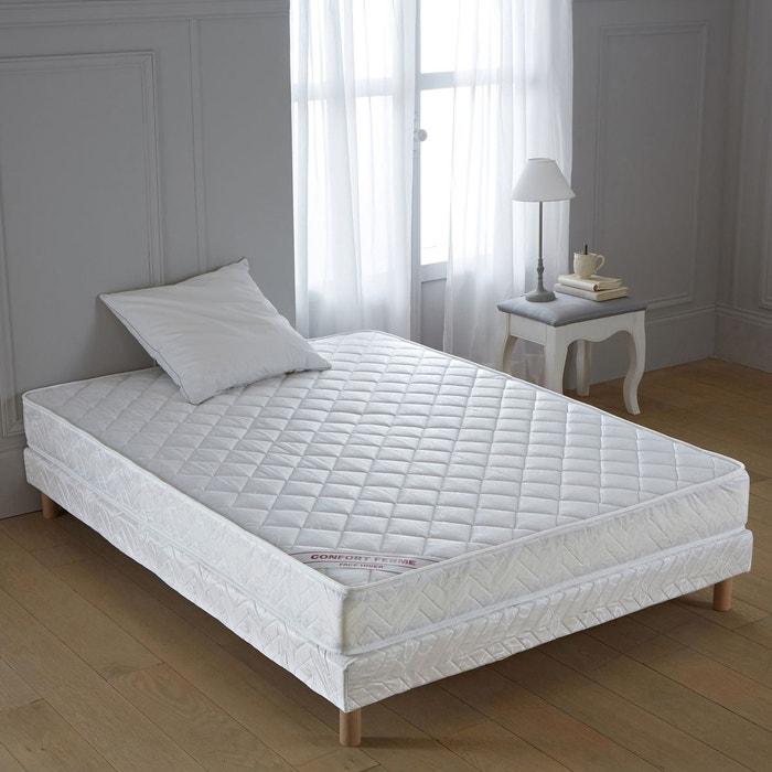 sommier tapissier lattes recouvertes blanc la redoute interieurs la redoute. Black Bedroom Furniture Sets. Home Design Ideas