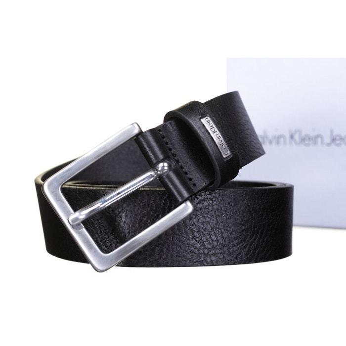 Ceinture calvin klein jeans mino belt 3 en cuir à boucle classique noir  Calvin Klein Jeans   La Redoute 36af569d355
