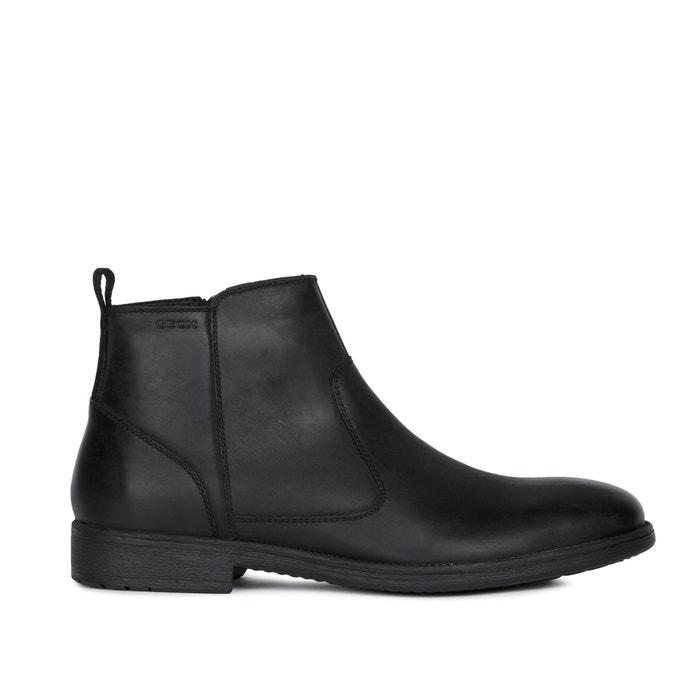 Jaylon leather flat ankle chelsea boots