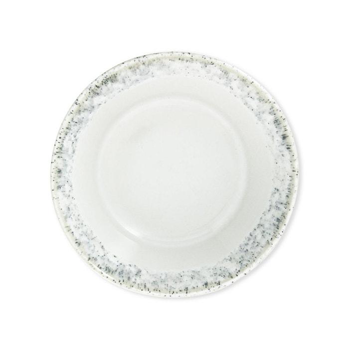 assiette creuse blanche en gr s 16cm lot de 6 cyrnos blanc bruno evrard la redoute. Black Bedroom Furniture Sets. Home Design Ideas