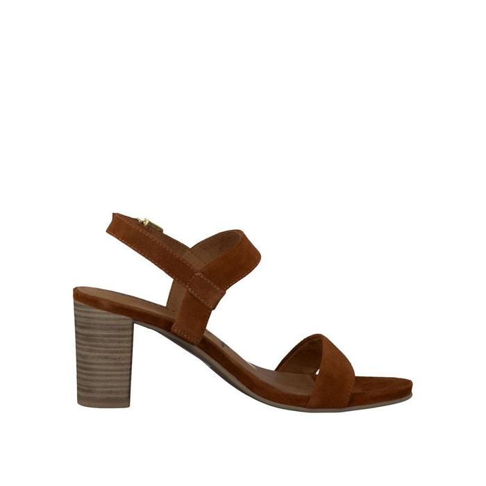 Sandales cuir ela marron Tamaris