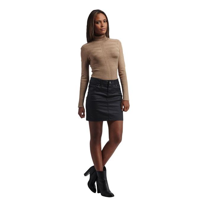 Mini jupe en denim enduit  MORGAN image 0