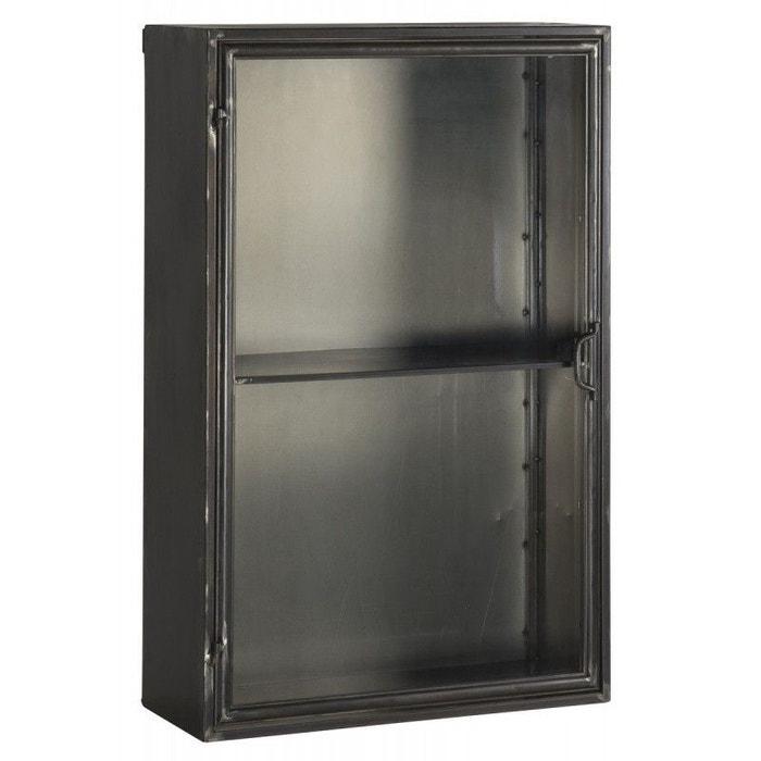 vitrine tag re murale industrielle vitr e m tal brooklyn noir ib laursen la redoute. Black Bedroom Furniture Sets. Home Design Ideas