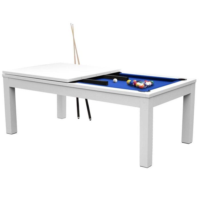 Table de billard rectangulaire convertible tapis rendez - Table billard convertible ...