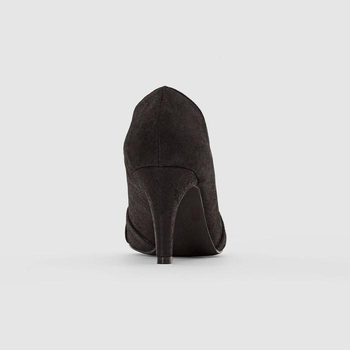 Escarpins cuir pailleté rétro noir Mademoiselle R