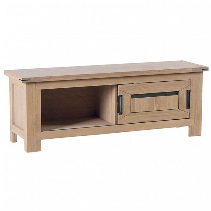 meuble tv en ch ne massif 2 niches cuba ch ne cir pier import la redoute. Black Bedroom Furniture Sets. Home Design Ideas