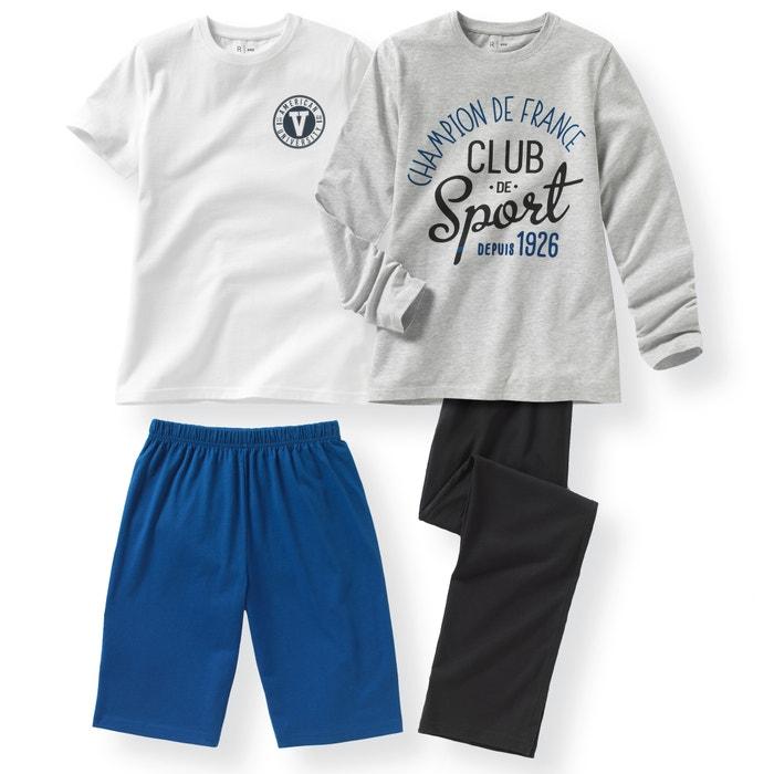 Imagen de Pijama estampado con tema sport 10-16 años (lote de 2) La Redoute Collections