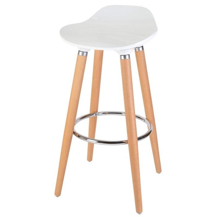 tabouret de bar oaky couleur unique 3com la redoute. Black Bedroom Furniture Sets. Home Design Ideas