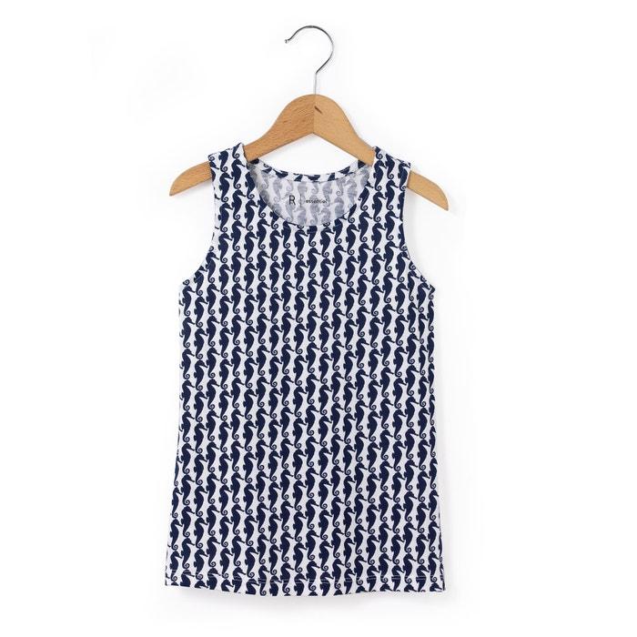 """Image """"Hippocampes"""" (Seahorses) Printed Vest Top, 3-12 years R essentiel"""