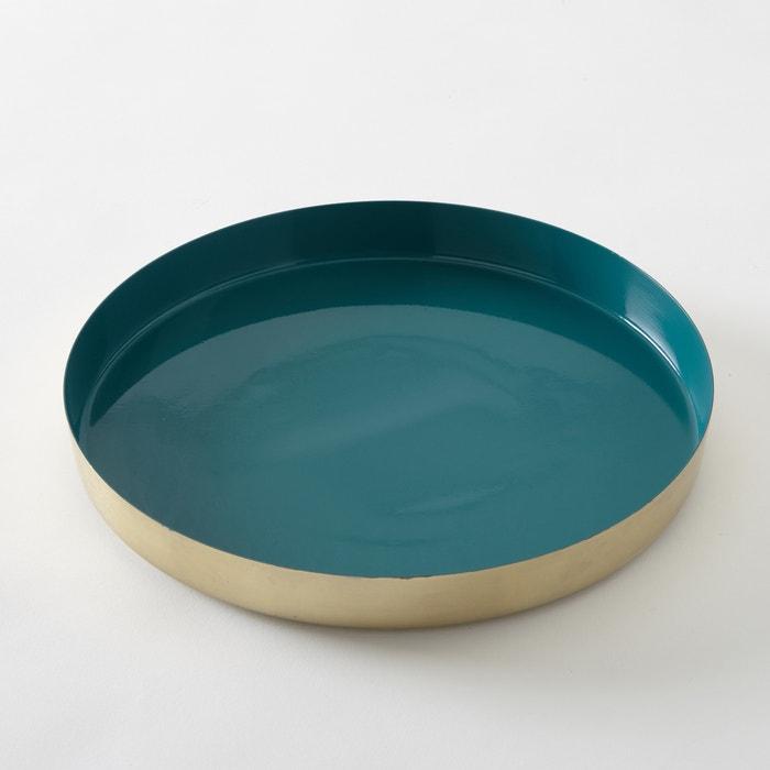 Image Anaïa Gold-Coloured Tray, Teal Blue Inside La Redoute Interieurs