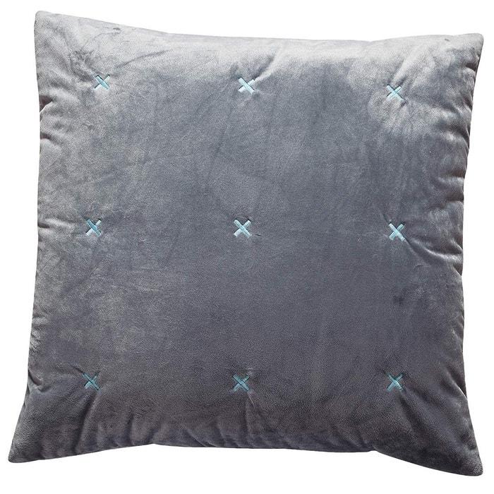 housse de coussin cross mink lot de 2 sensei la maison du coton la redoute. Black Bedroom Furniture Sets. Home Design Ideas