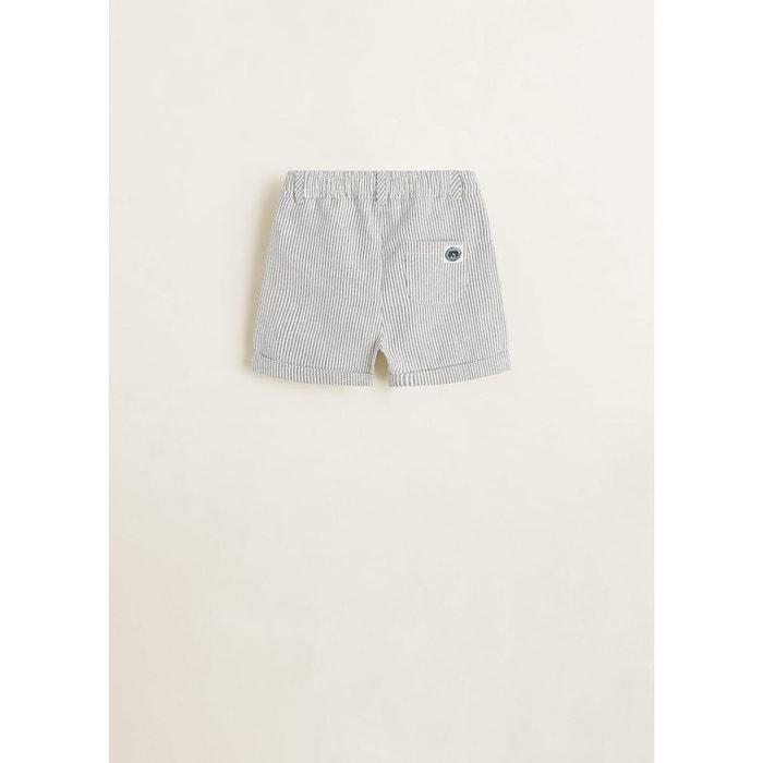 630c3c98b2 Short à rayures coton blanc cassé Mango Baby | La Redoute
