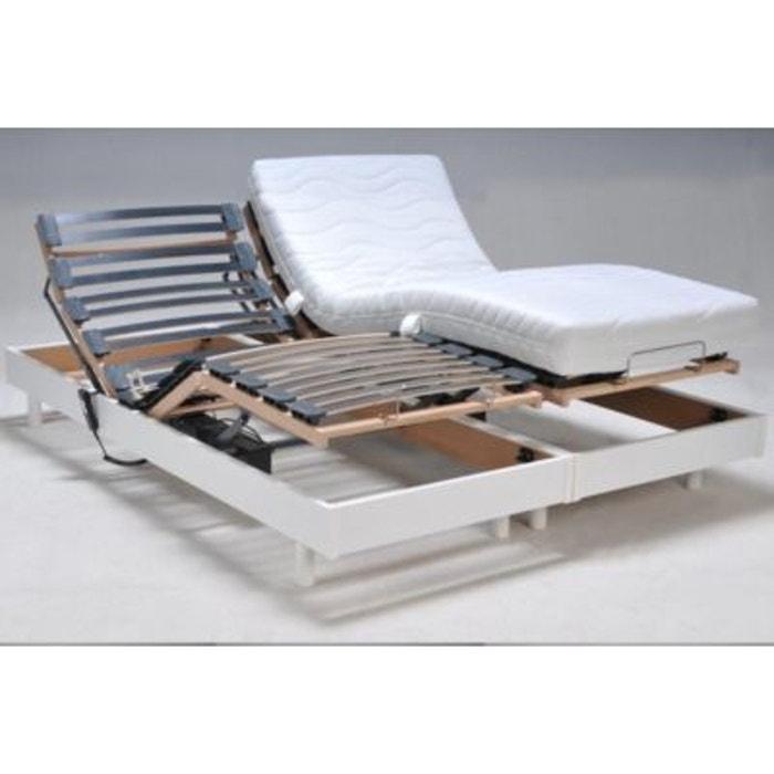 ensemble de relaxation flex blanc couleur unique matelsom la redoute. Black Bedroom Furniture Sets. Home Design Ideas