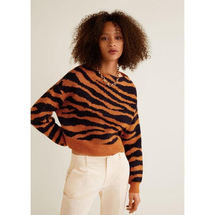 67598fcf0971 Pull-over imprimé tigre orange Mango
