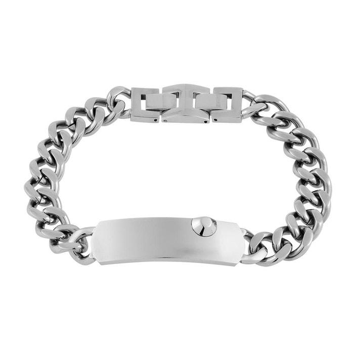 Prix de Vente Le Plus Bas authentique Bracelet acier argente Novobe | La Redoute Pré Commande Rabais a4w4ULZs