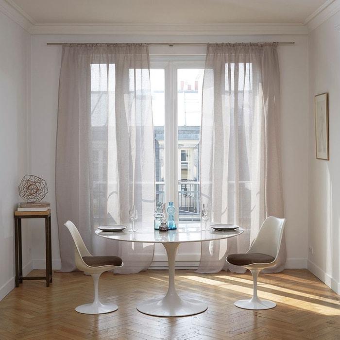 voilage galon fronceur lin shadow beige madura la redoute. Black Bedroom Furniture Sets. Home Design Ideas
