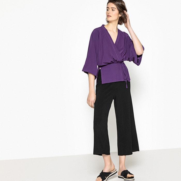 kimono anudada cintura con Redoute ligera 3 en 4 La Chaqueta estilo la manga Collections pXvgqR