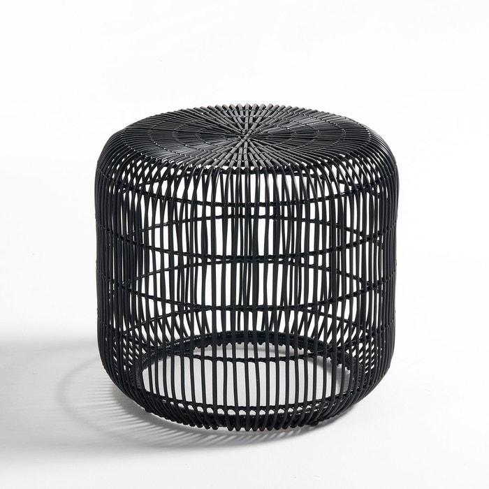 tabouret table basse r sine tress e tatur noir la redoute interieurs la redoute. Black Bedroom Furniture Sets. Home Design Ideas