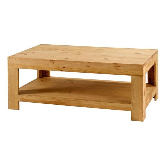 Table Basse En Pin.Table Basse Pin Massif 120 Cm Colorado