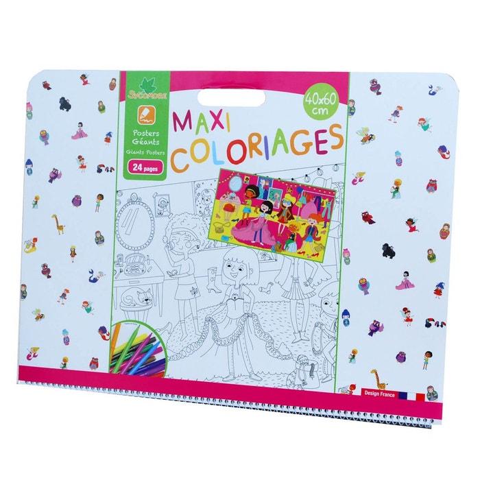 Maxi coloriage jumbo fille faucre6030 au sycomore la redoute - Maxi coloriage ...