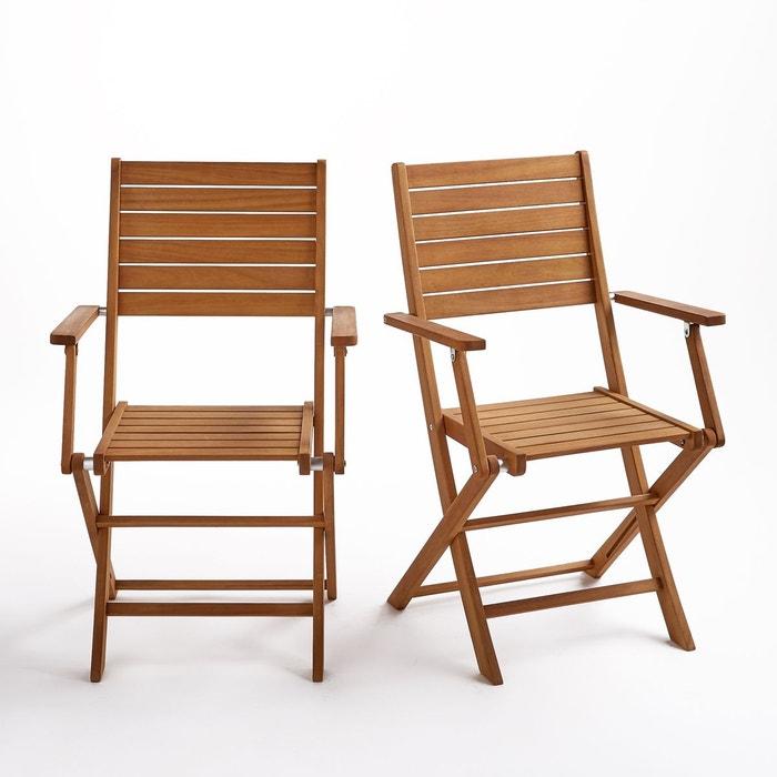 fauteuil jardin pliant lot de 2 euka la redoute interieurs image 0 - Fauteuil Jardin Pliant