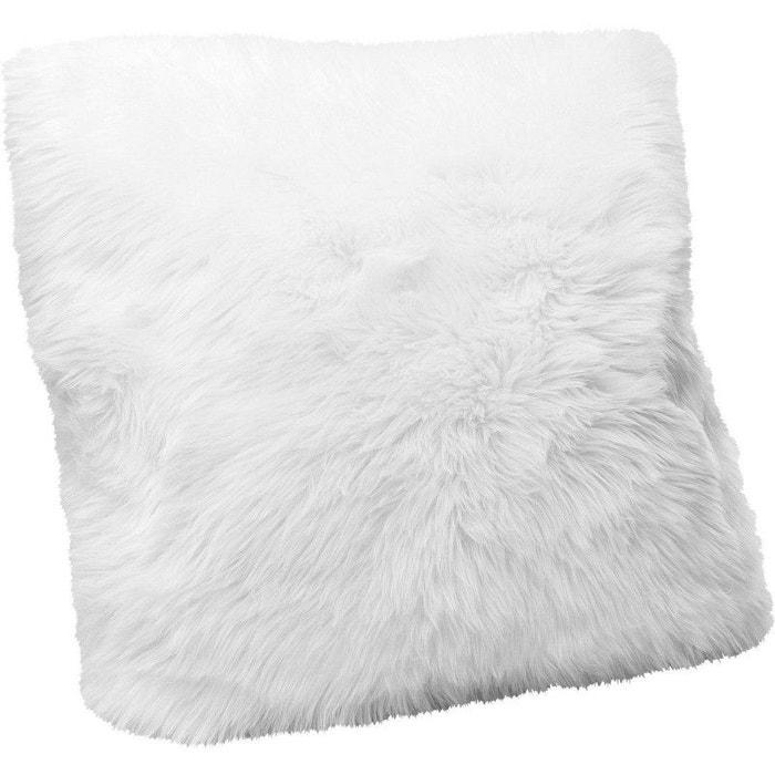 Coussin fourrure blanc 60x60cm kare design