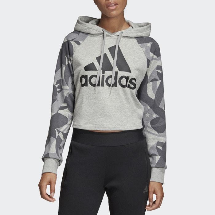 pretty nice 36648 f8c73 Sww sid hood aop hoodie , grey black, Adidas Performance   La Redoute