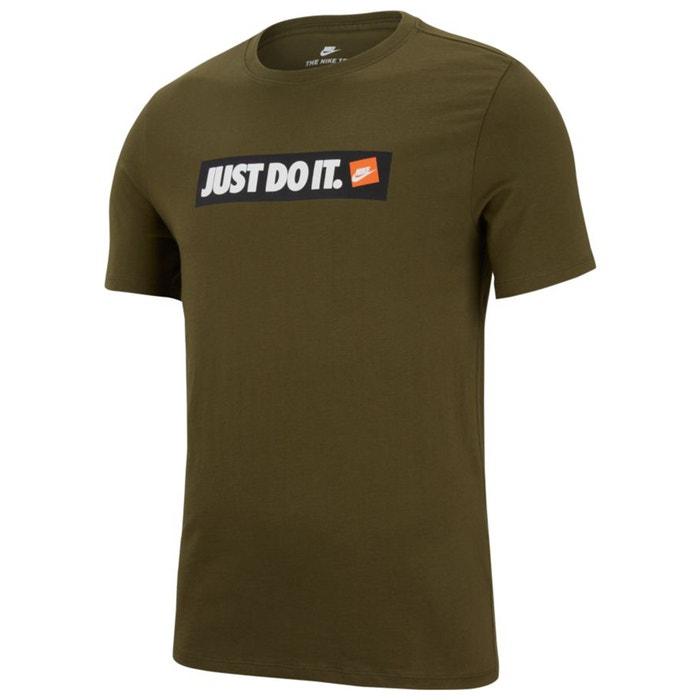 manga estampado de corta y redondo NIKE con Camiseta delante cuello n8qa4Hp