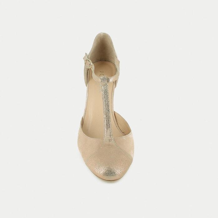 243;n bar tac T color Zapatos dorado piel de JONAK de F6Bawq