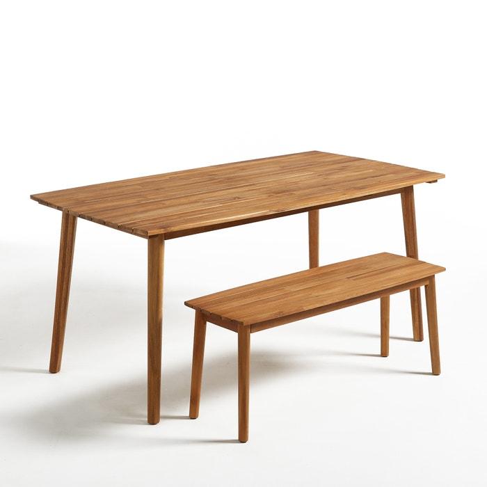 Image Julma Oiled Acacia Garden Table La Redoute Interieurs
