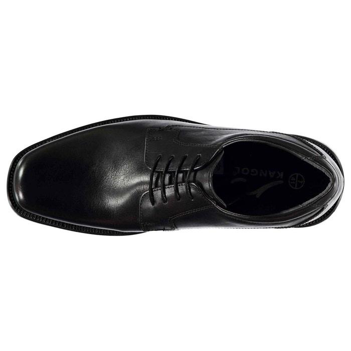 Chaussures derbies à lacets noir Kangol