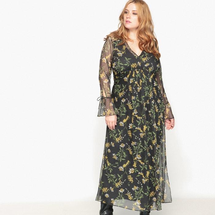 afbeelding Lange jurk met bloemenprint CASTALUNA
