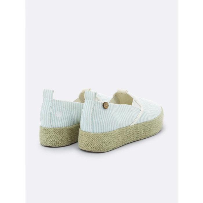 Basket figon coton vert clair Faguo
