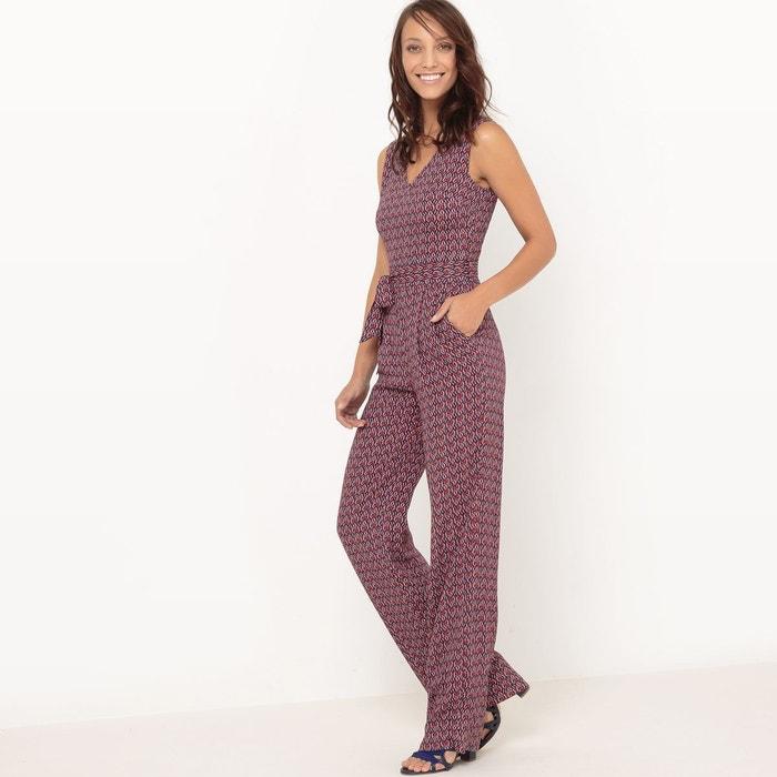 Combinaison pantalon imprim e imprim fond marine atelier r en solde la re - La redoute combinaison ...