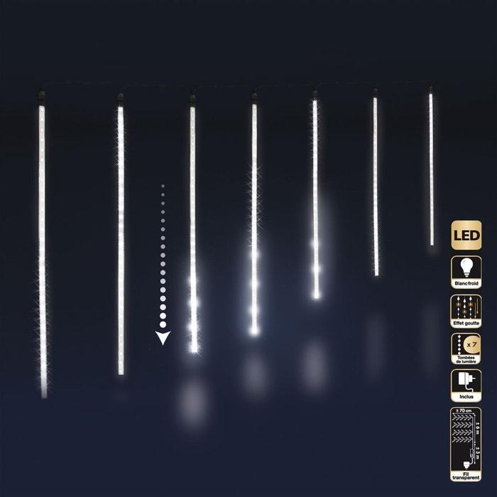 Guirlande de no l d 39 ext rieur lumineuse stalactites 6 m for Guirlande de lumiere exterieur