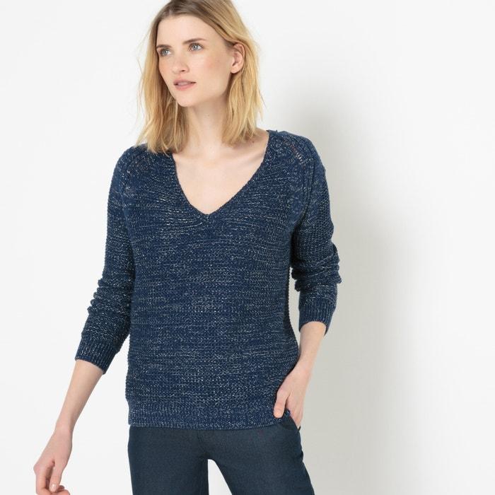 afbeelding Glanzende trui met V-hals atelier R
