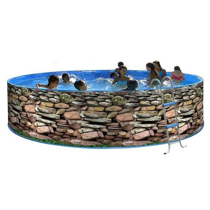 piscine ronde mur acier 450cm x h 90cm couleur unique toi. Black Bedroom Furniture Sets. Home Design Ideas