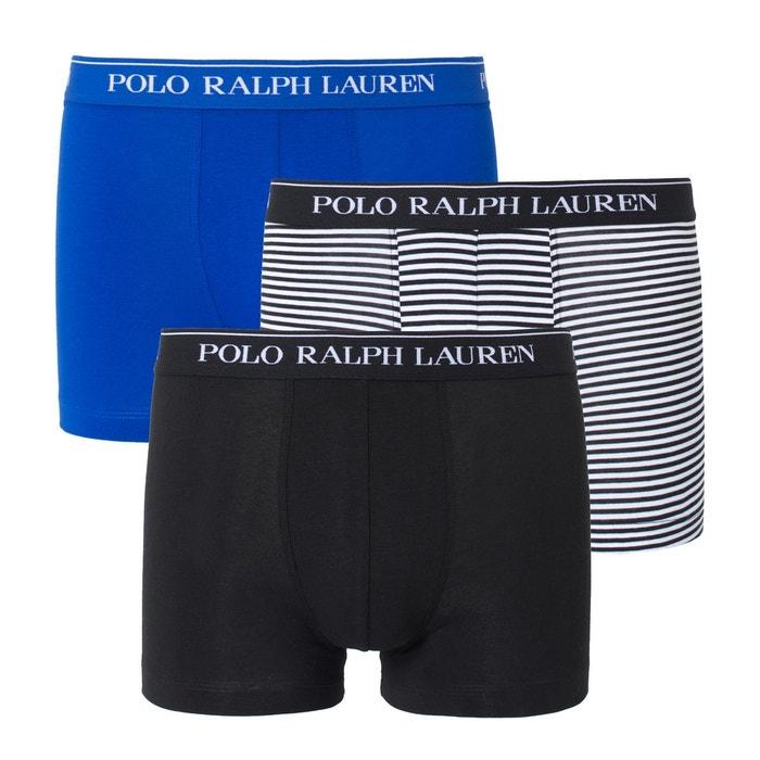 Boxers 2 unis, 1 rayé POLO RALPH LAUREN (lot de 3)