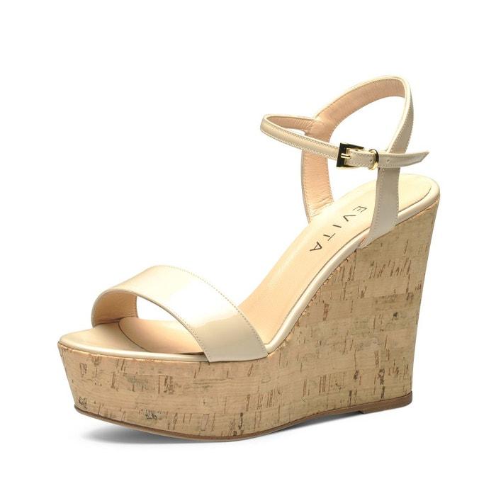 sandales au talon compensé EVITA