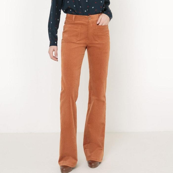 Préférence Pantalon flare en velours marron clair La Redoute Collections | La  CR21