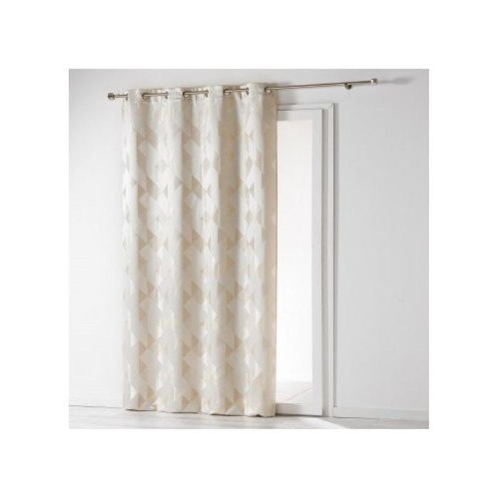 rideau a oeillets imprim formes g om triques gris 140x260 sohan declikdeco la redoute. Black Bedroom Furniture Sets. Home Design Ideas