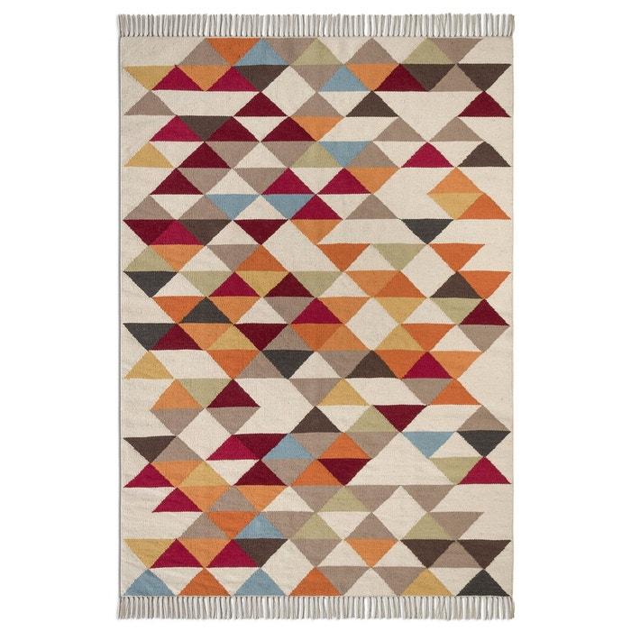 Tapis tiss plat motif kilim en laine murray am pm multicolore la redoute - Tapis multicolore ikea ...